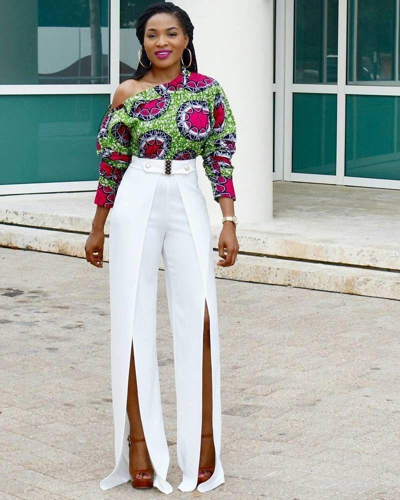 037623f9fc9 Toute femme africaine devrait avoir au moins un top en pagne wax dans sa  garde robe quelque soit le pays où elle vit. Ce qui est bien avec les tops
