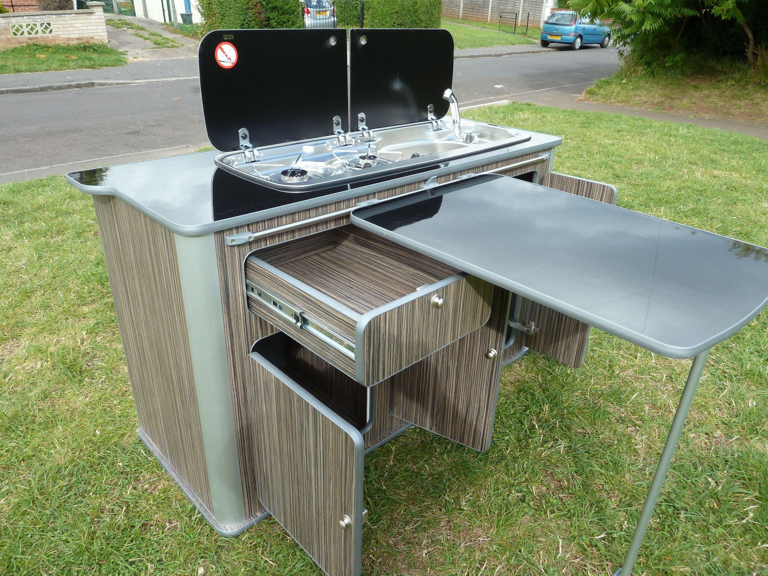 Campervan slide out kitchen google search t2 for Camper van kitchen units