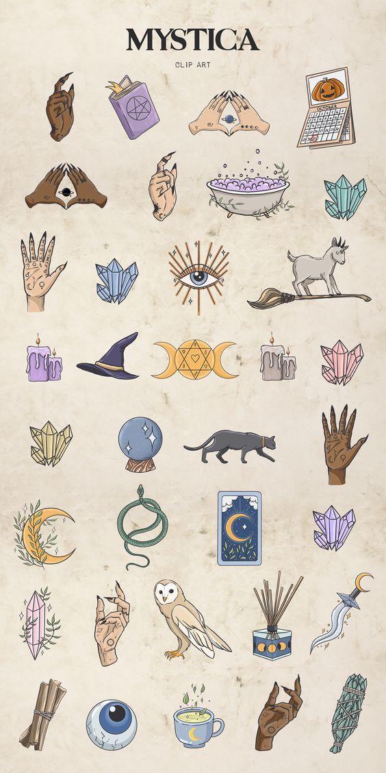 Magic clipart, witch clipart, mystical clipart, ma