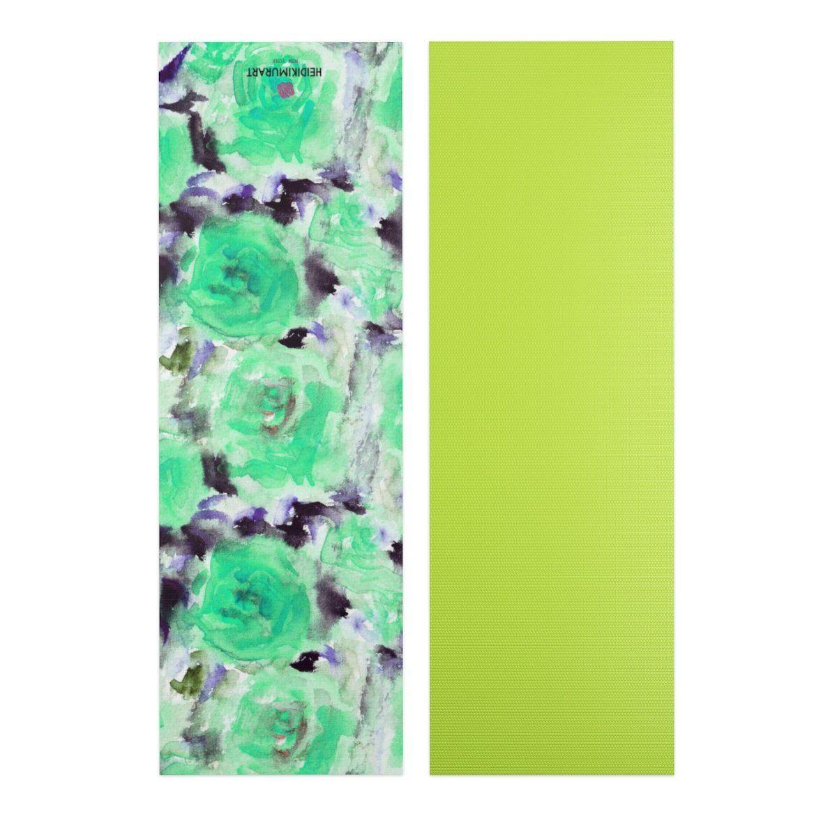 Nagi Dreamy Blue Floral Designer Yoga Mat Bag Full 2 Piece Set
