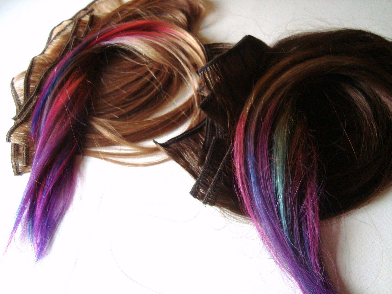 Purple Dip Dyed Hair Thetimechild Jewel Dip Dyed Hair Extensions