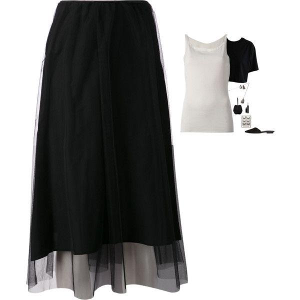 Maison Margiela - Layered Tulle Skirt Style by twinklebluegem on Polyvore featuring Armani Collezioni, Maison Margiela, Whistles and Simone Rocha