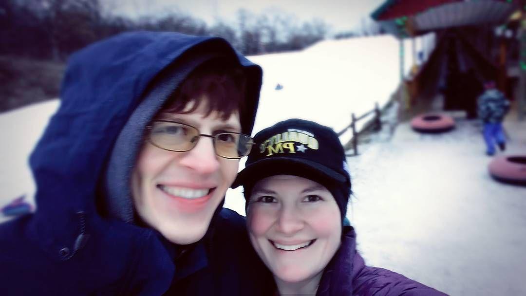 we tubed down hills of snow & ice!!! #WinterWonderland #FirstTimeForEverything