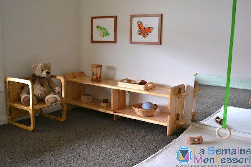 Cameretta montessori ~ La chambre montessori simple et facile à organiser permet au