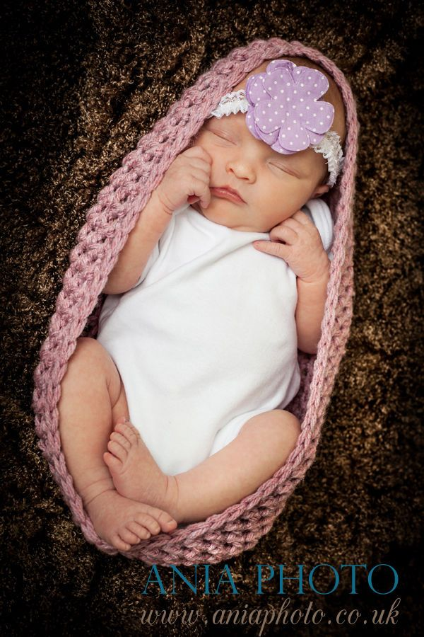 Pale Rose CROCHET BABY BOWL COCOON NEST BOWL POD FOR BABY - PHOTO PROP
