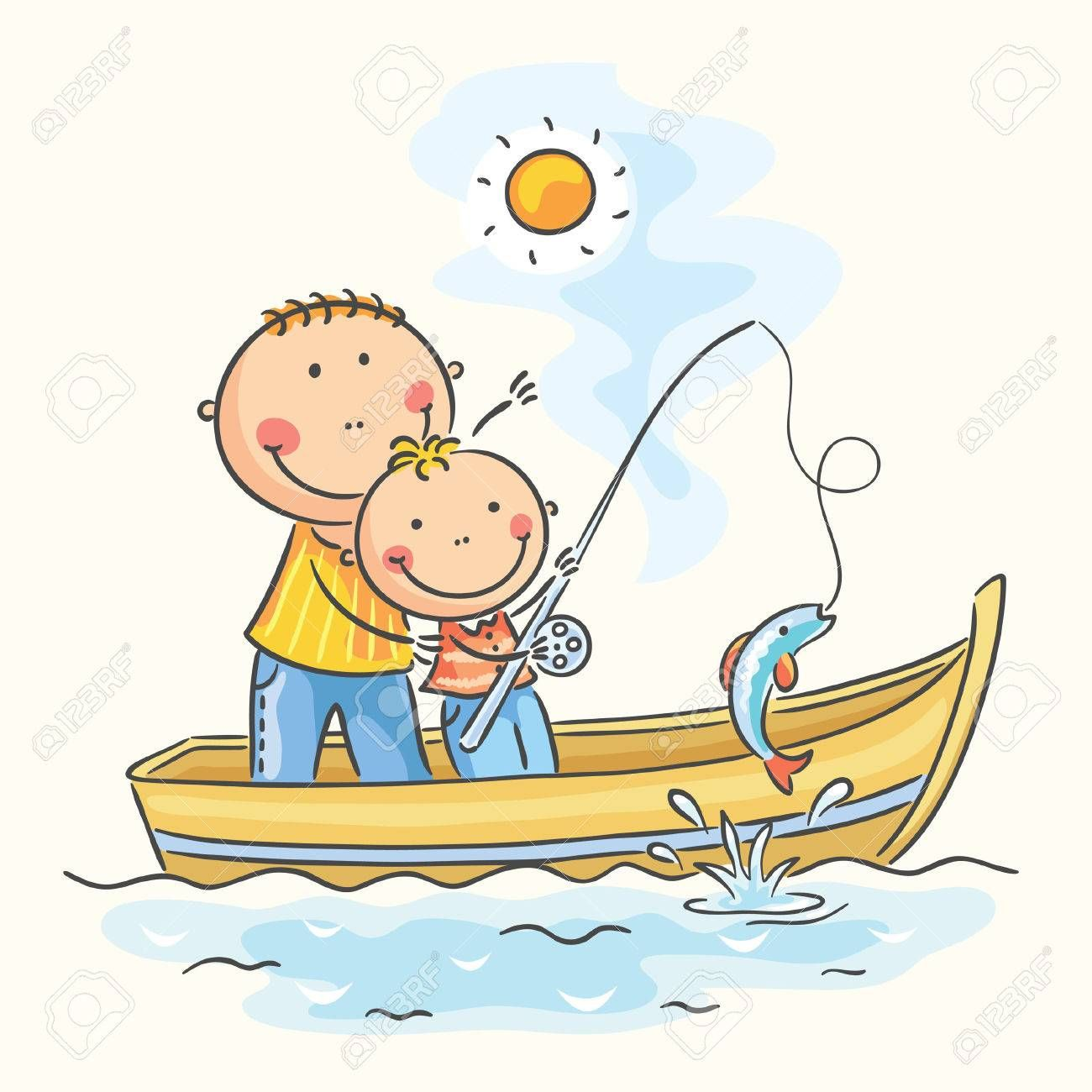 Fishing Boat Clipart Dad Clipart Free Clipart On Dumielauxepices Net Boat Cartoon Boat Drawing Stick Figure Drawing