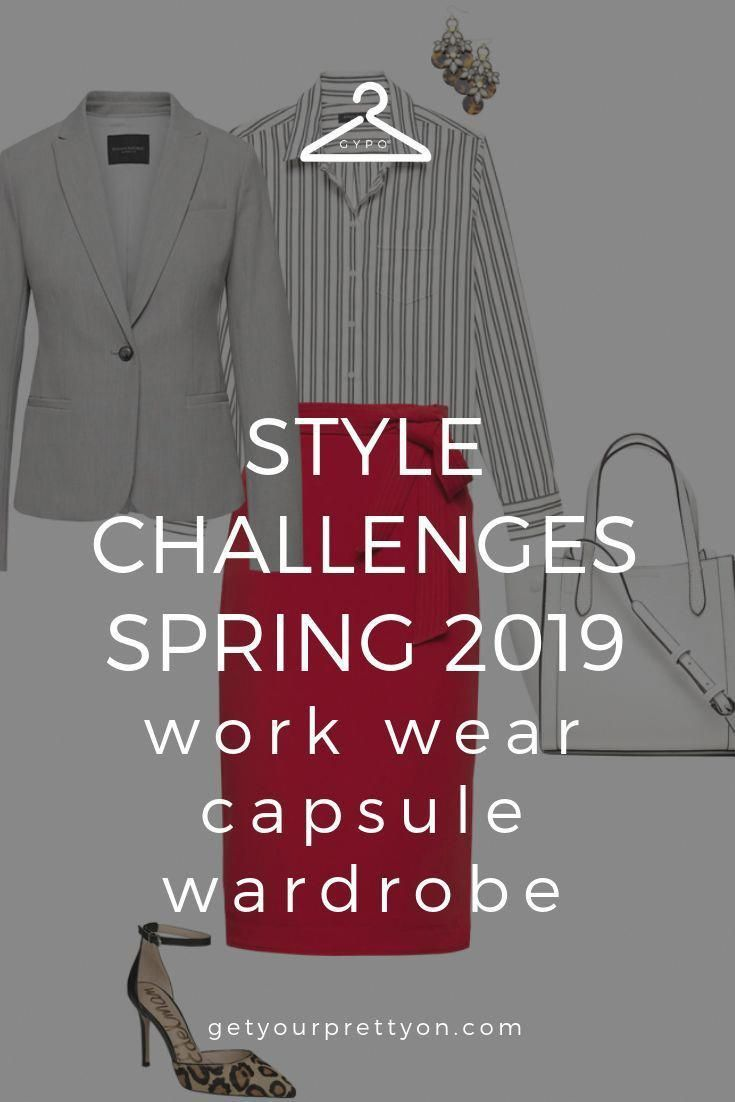 Spring 2019 Work Wear Capsule Wardrobe from Style Challenges by Get Your Pretty On