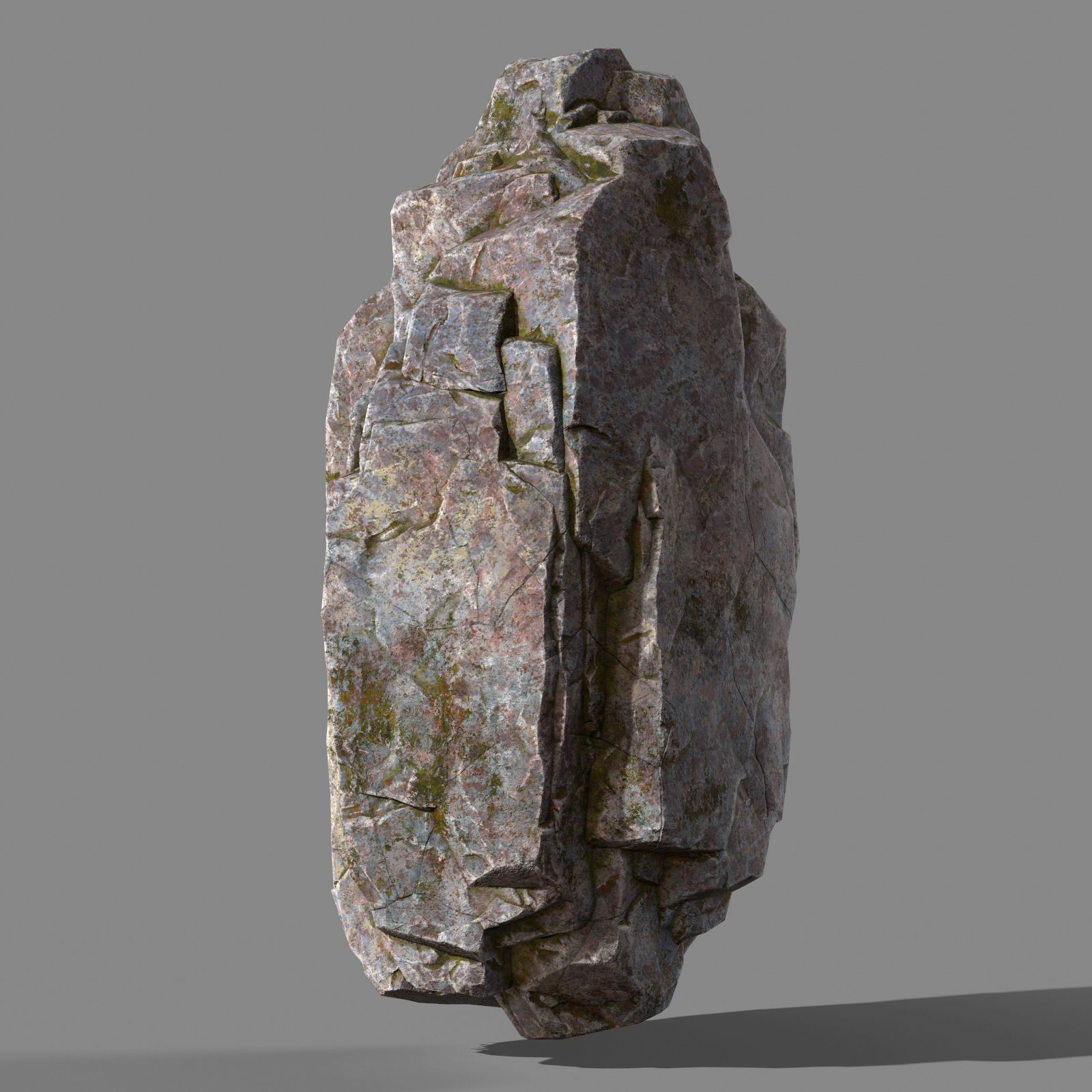 mossy rock 3d model low-poly obj fbx ma mb stl mtl 1 | Rock Model in