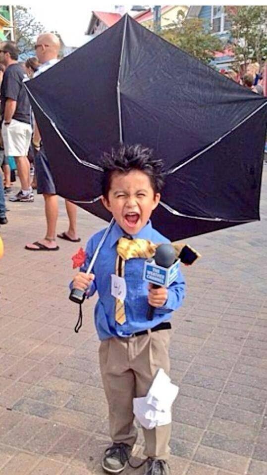 Mini Weatherman Costume Adorable Halloween Boy