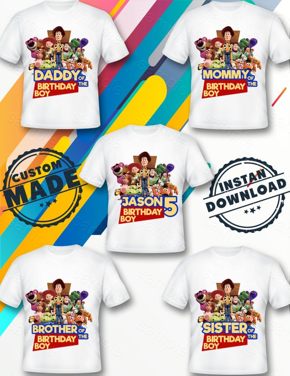 f7c296adc1d59 Toy Story Family Iron On Transfer, Toy Story Family Birthday Shirt ...