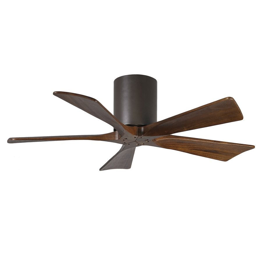 Matthews Irene 42 In Textured Bronze Flush Mount Indoor Outdoor Ceiling Fan With Remote 5 Blade Hugger Ceiling Fan
