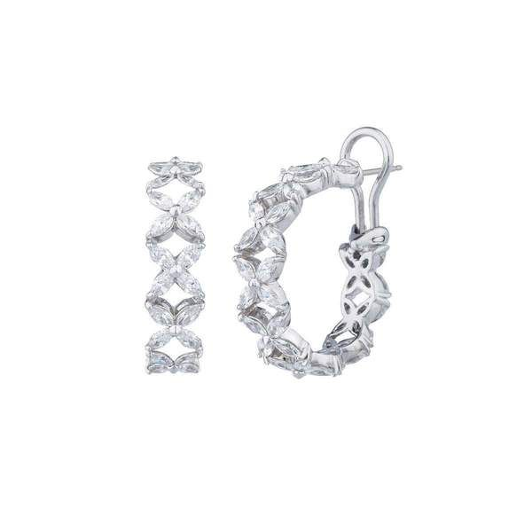 Fantasia Sterling Silver & Palladium Marquise & Round Tennis Bracelet zzMA2