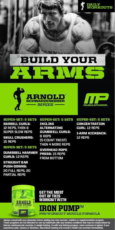 Arnold build your arms workout pinterest arms workout and arnold build your arms malvernweather Images