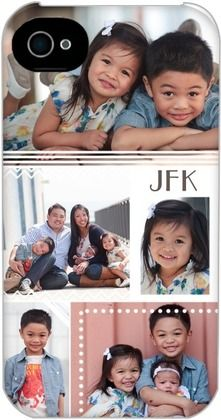 Personalized Iphone Cases Bordered Snapshots - Front : Blaze
