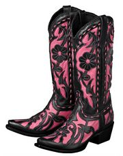 Cowgirl boots, Pink cowgirl boots, Boots
