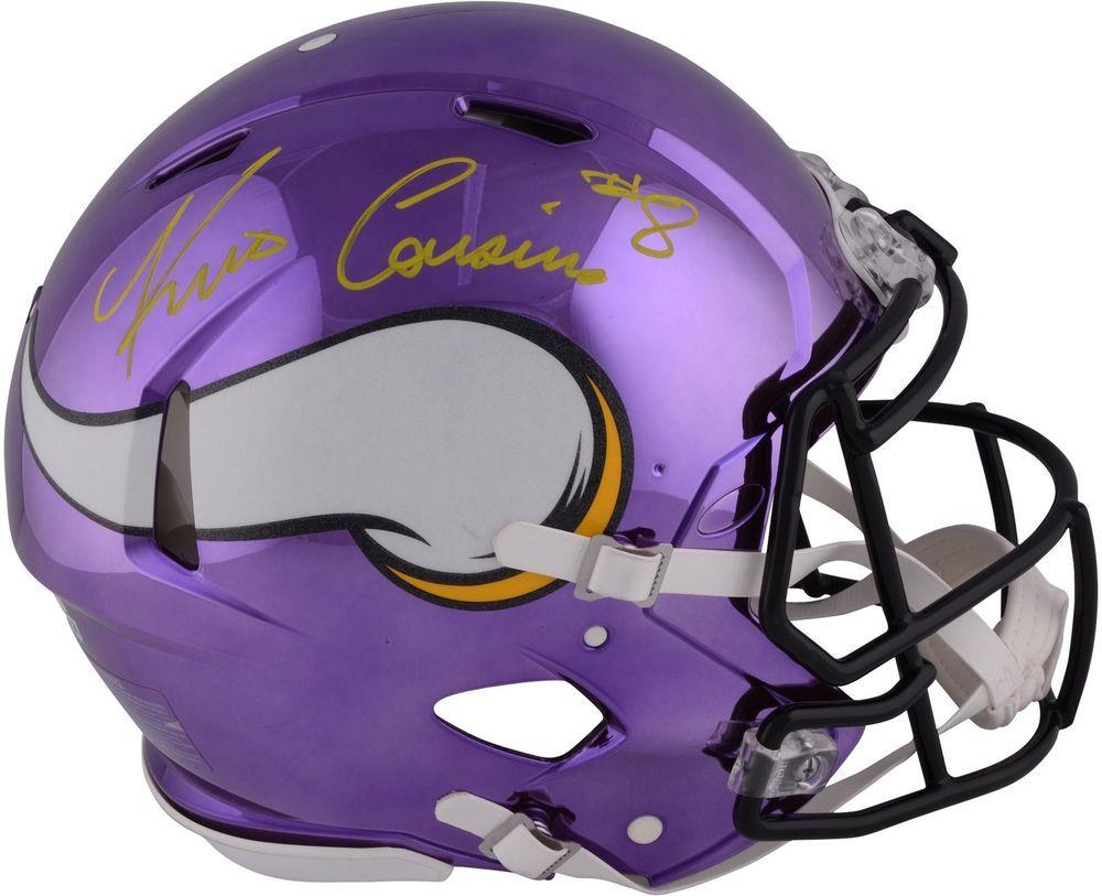 b197df9e4 Kirk Cousins Minnesota Vikings Signed Riddell Chrome Alternate Pro-Line  Helmet  FootballHelmet  sportsmemorabilia  autograph