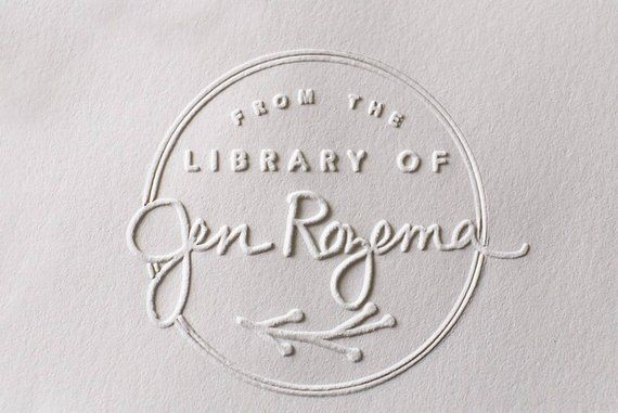 Custom Embosser Stamp From The Library Of EmbosserLibrary Seal Stampbook Embosserhand H