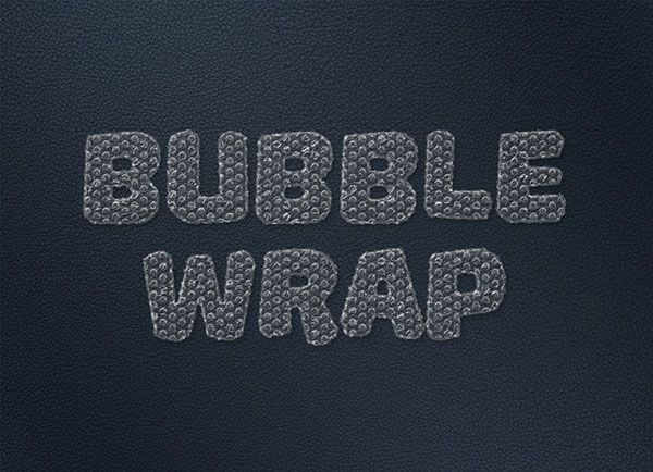 Create a Bubble-Wrap Text Effect in Adobe Photoshop