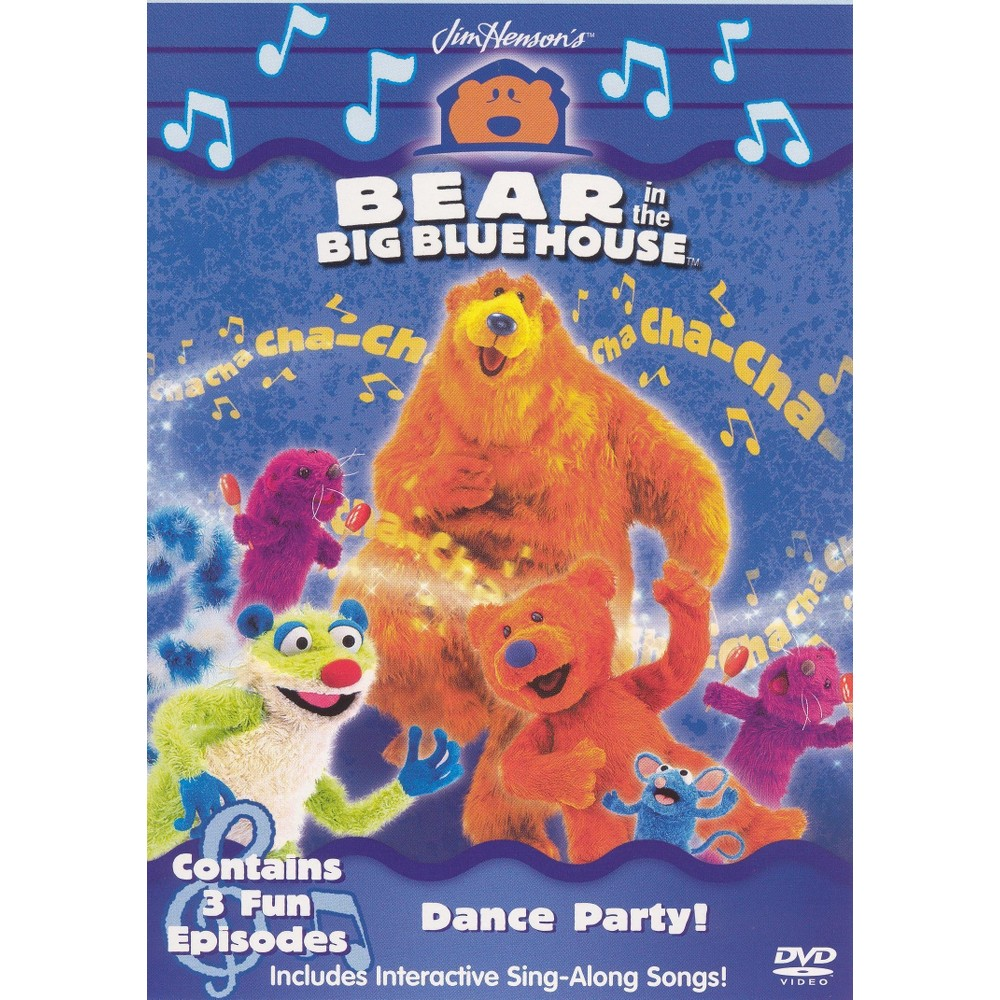 bear in the big blue house dance party big blue house