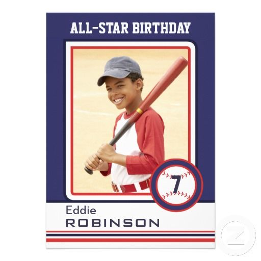 Mock Baseball Card Birthday Invitation