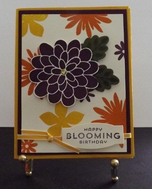 Blooming Birthday Card http://www.shophandmade.com/store/creationsbysharn/