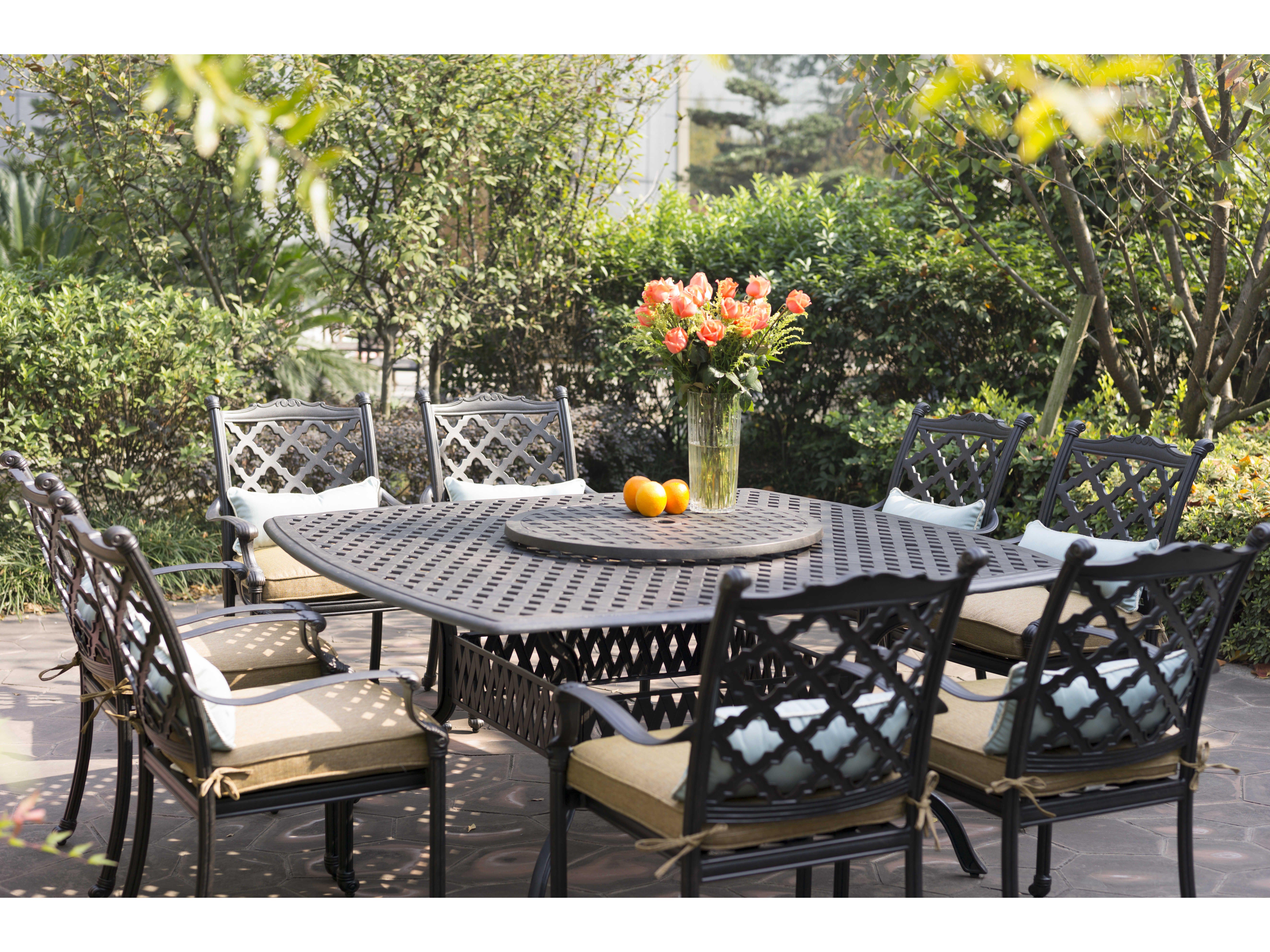 Darlee Outdoor Living Casual Cushion Cast Aluminum Dining Set Caminoreal Seta Nonstock
