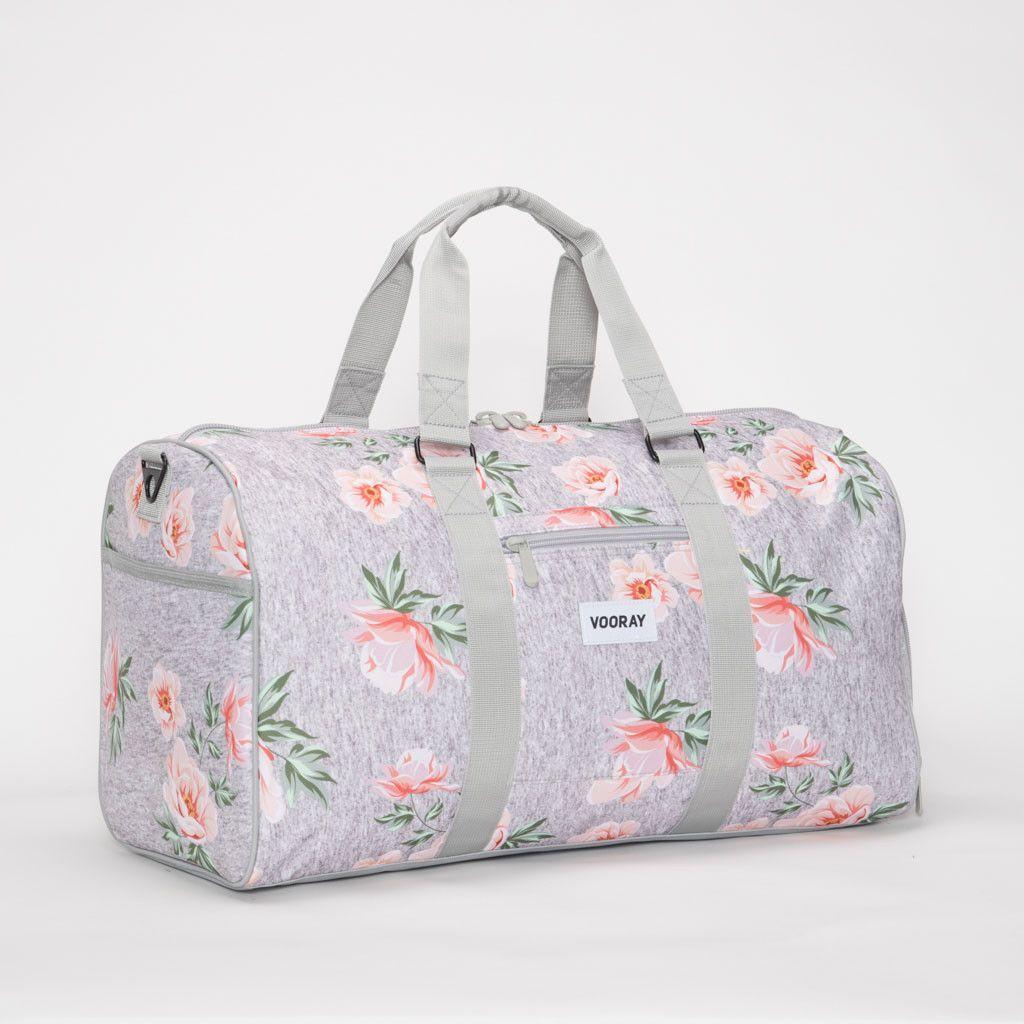 Travel Duffels Romantic Flowers Duffle Bag Luggage Sports Gym for Women /& Men