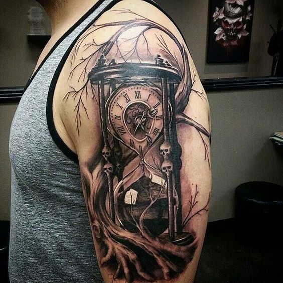 I really like the skulls, and I like the clock inside with the roman numerals.: