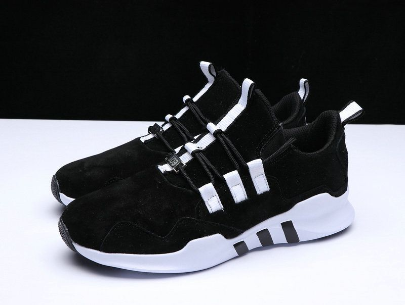 100% authentic 63324 d0e25 2018 Genuine Adidas EQT Support ADV Core Black White Shoe