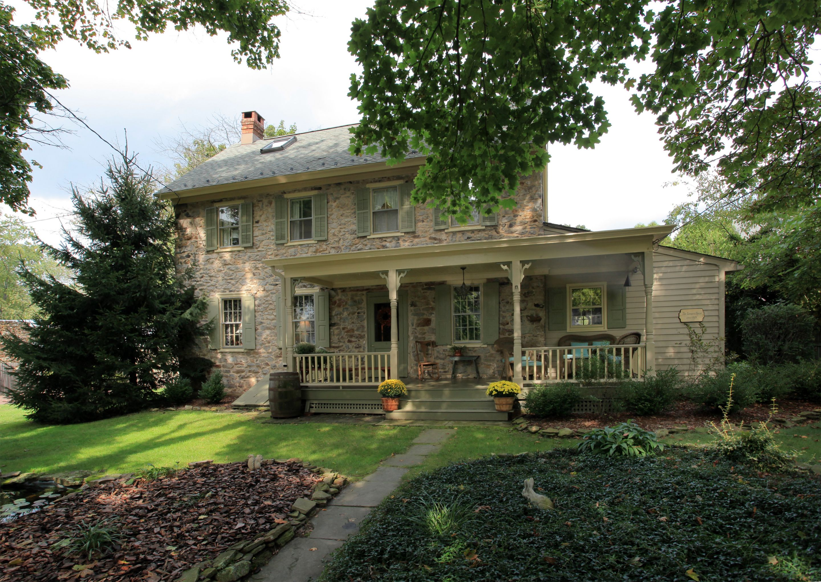 """This early circa 1825 stone house was the original """"Tanner"""