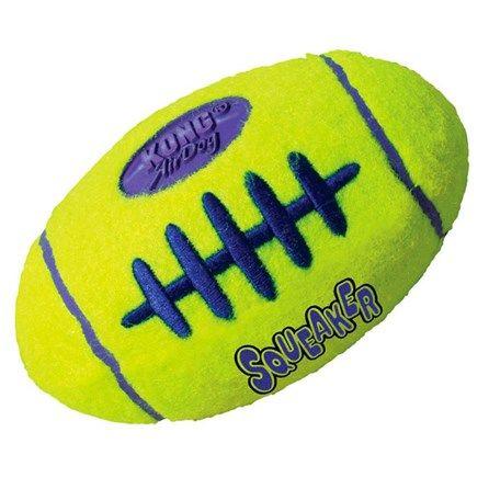 Kong Squeaker Football Brinquedo para Cachorro - MeuAmigoPet.com.br #petshop #cachorro #cão #meuamigopet