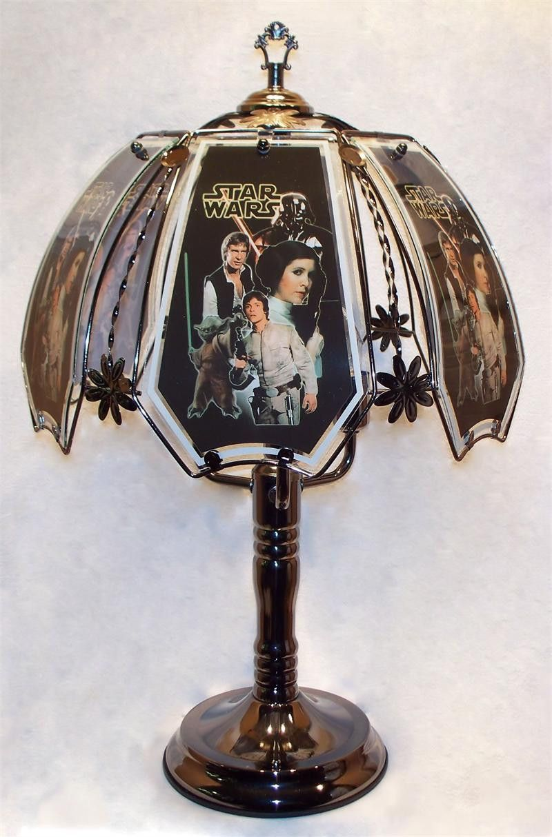 Star Wars Lava Lamp Captivating Star Wars Black Chrome Touch Lamp W Glass Shade  P&j Home And Design Inspiration