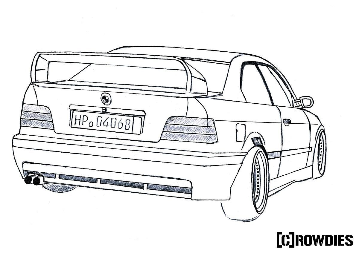Bmw M5 E39 Drawing By Vertualissimo 173 T Bmw