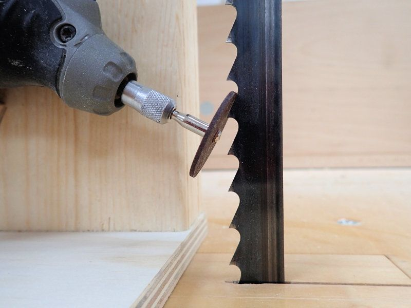 How To Make A Band Saw Blade Sharpening Jig | Workshop | Blade