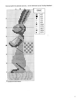 By The Bay Needleart: Free Bunny Chart for 2010