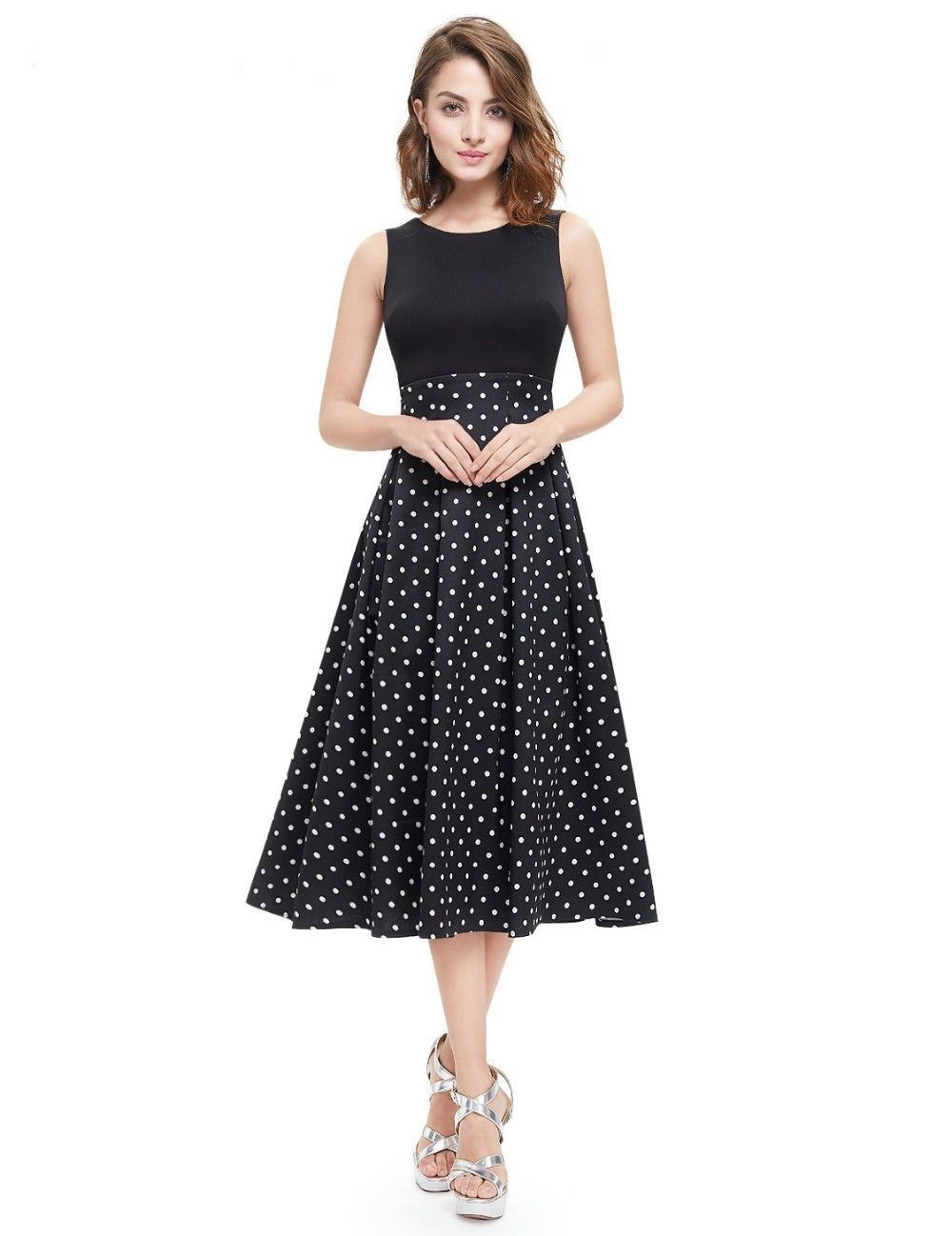 Women\'s A-Line Sleeveless Party Dress | Fashion | Pinterest | 50er