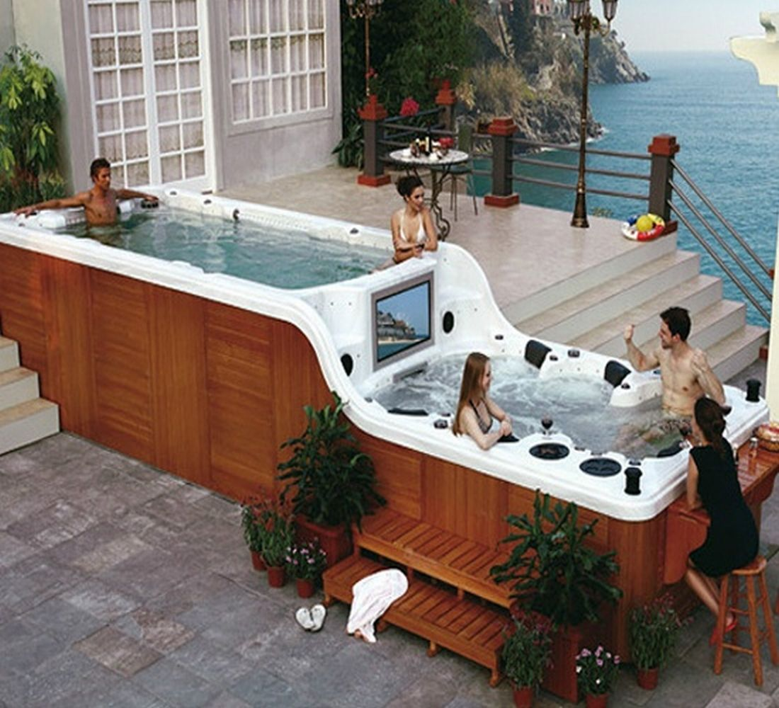 Indoor Hot Tub With Tv Google Search Drømmehus Boblebad Hus