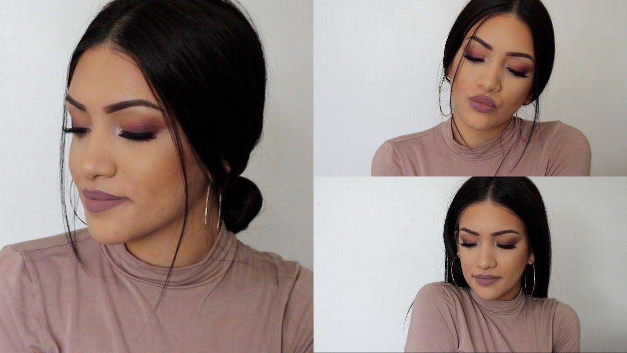 Monochromatic Mauve Makeup Look | Jazzy Mina - YouTube