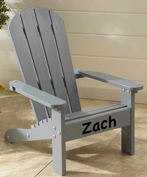 Look at this Gray & Black Personalized Adirondack Chair on #zulily today!
