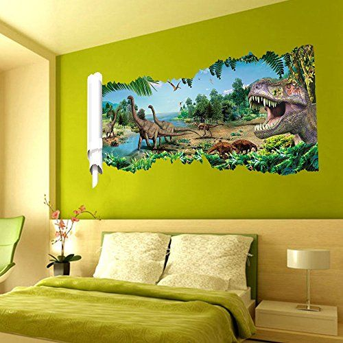 MLM D The World Of Dinosaurs Jurassic World Wall Sticker Vinyl - 3d dinosaur wall decalsd dinosaur wall stickers for kids bedrooms jurassic world wall