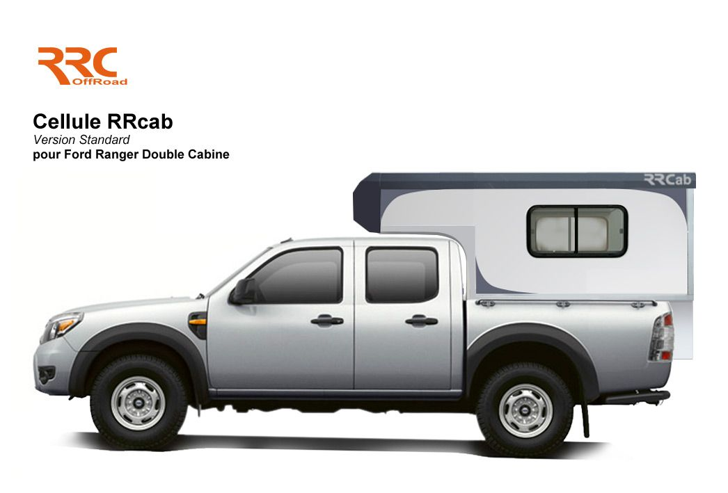 rrcab cellule amovible pick up 4x4 ford ranger double. Black Bedroom Furniture Sets. Home Design Ideas