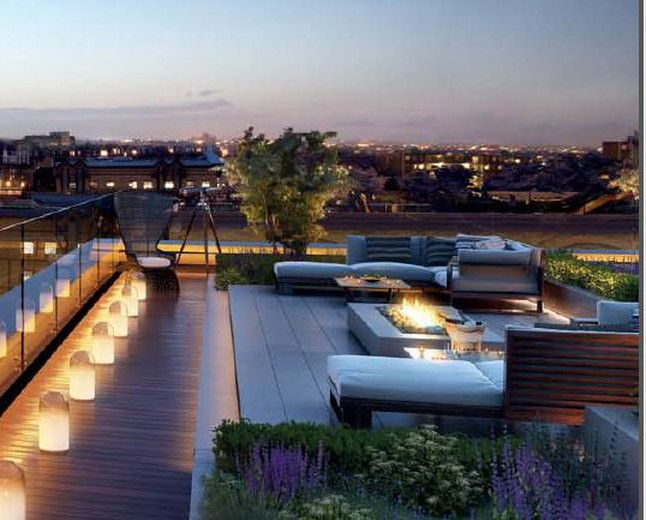 lhm seattle - modern and luxurious condo style living with the ... - Rooftop Patio Ideas