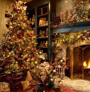 Christmas Tree Christmas Tree And Fireplace Christmas Fireplace Beautiful Christmas Trees