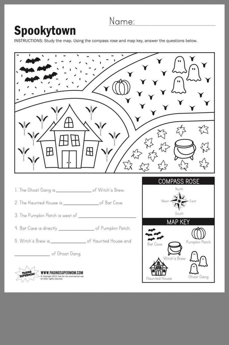 10 1st Grade Compass Rose Worksheet Chart Sheet Com In 2020 Map Skills Map Skills Worksheets First Grade Worksheets