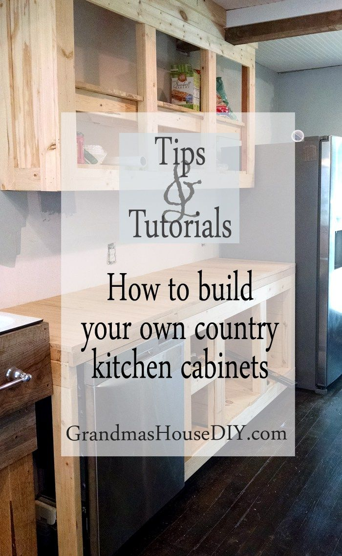 how to diy build your own white country kitchen cabinets - Country White Kitchen Cabinets