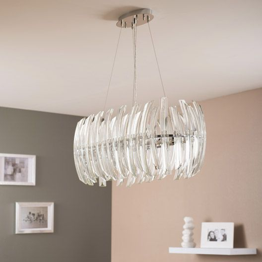 Suspension Drifter Eglo Transparent 8x40 Watts Diam 80 Cm Luminaire Interieur Plafonnier Decoration