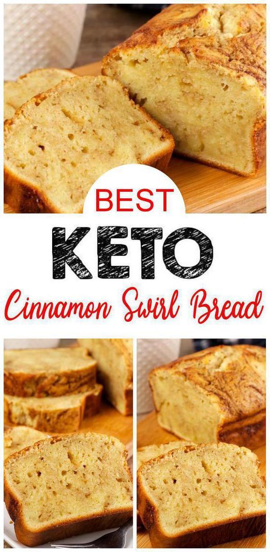 EASY ingredient Keto Cinnamon Swirl Bread! This cinnamon swirl bread is so tasty. Easy