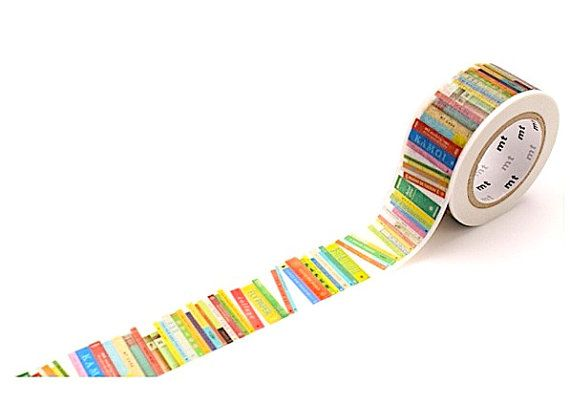 mt ex Colorful Books  Washi Tape 23mmx10m by niconecozakkaya