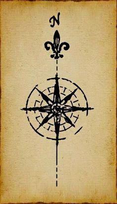 Resultado De Imagen De Rosa Delos Vientos Tatuaje Tattoo Tattoos