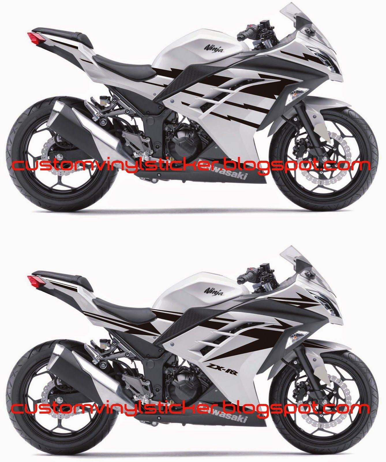Design sticker ninja 250 - Kawasaki Ninja 250 F1 White Black Mate Striping Sticker Concept